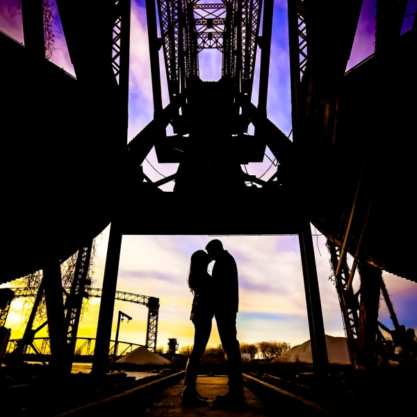 Renee & Sean E-Session - Downtown Cleveland
